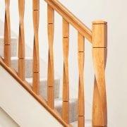 George Quinn Stair Parts Plus – Milano White Oak Staircase