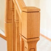 George Quinn Stair Parts Plus – Paris – White Oak Newel Post