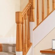 George Quinn Stair Parts Plus – Paris – White Oak Staircase