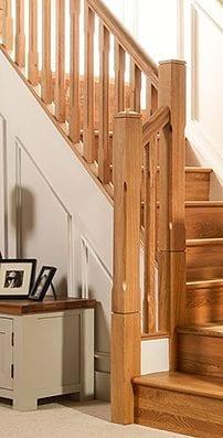 George Quinn Stair Parts Plus - Boyne Chamfer White Oak Staircase