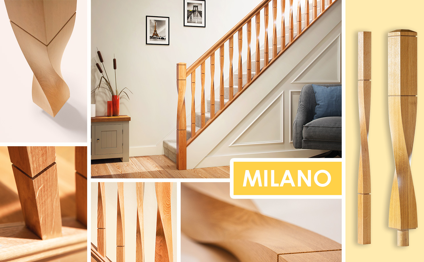 George Quinn Stair Parts Plus - Milano Twist Stair Parts Collection