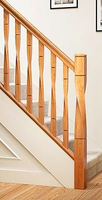 George Quinn Stair Parts Plus - Contemporary Collections: Milano Twist Staircase Range