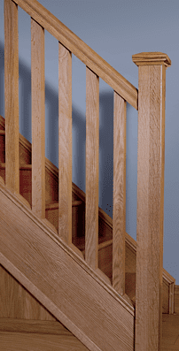 George Quinn Stair Parts Plus - Square Stair Parts Design in White Oak