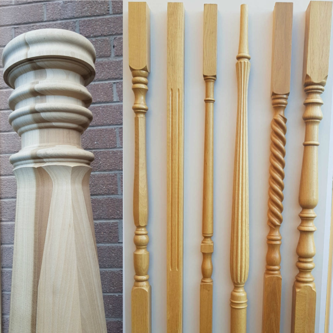 George Quinn Stair Parts Plus - Staircase Design - Newel Post and Spindles Image