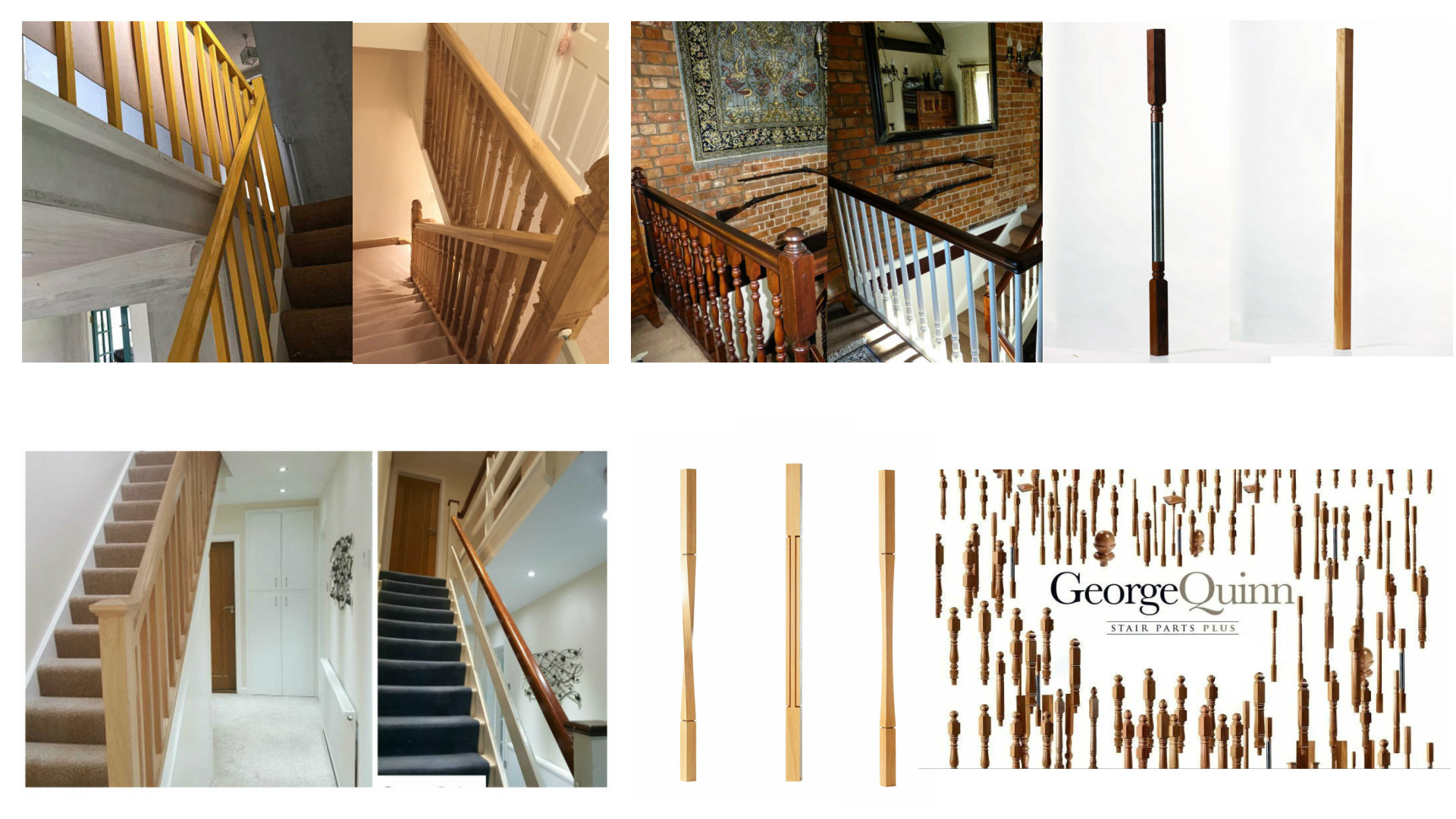 George Quinn Stair Parts Plus - Staircase Design - Stair Renovation Images
