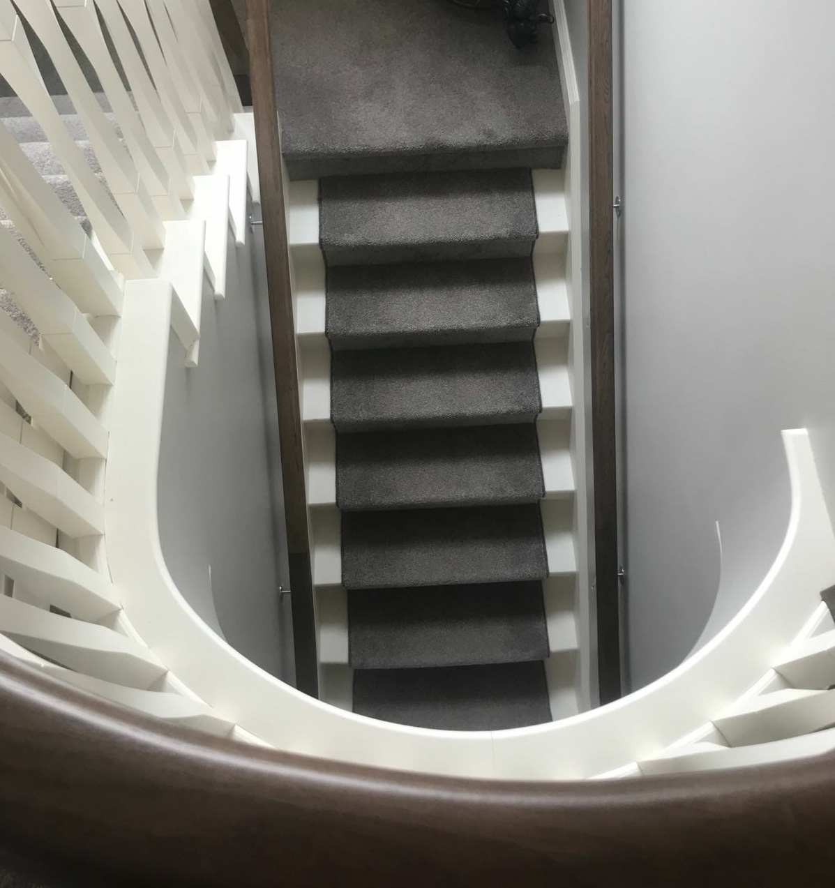 George Quinn Stair Parts Plus - Staircase Design - Painted Stair Treads with Runner
