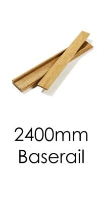 Stairs Baserail - 2400x57x69mm -George Quinn Stair Parts Plus