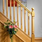 Stairs with Ball Newel Cap - George Quinn Stair Parts Plus