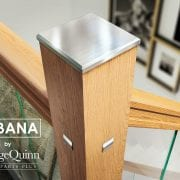 Glass-Stairs-Newel-Cap-with-Oak-George-Quinn-Stair-Parts-Urbana