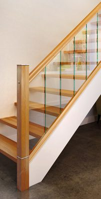 Modern Stair Parts - Glass Urbana - George Quinn Stair Parts