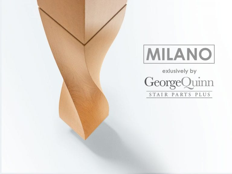 Newel for Stairs - Milano Twist - George Quinn Stair Parts Plus