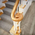 Scroll Handrail Stairs - Boston Pin Top Spindles - George Quinn Stair Parts Plus