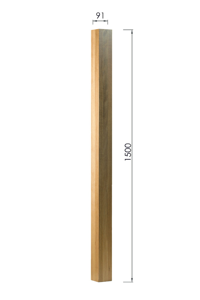 Square-Newel-Post - 1500mm x 91mm x 91mm-George-Quinn-Stair-Parts