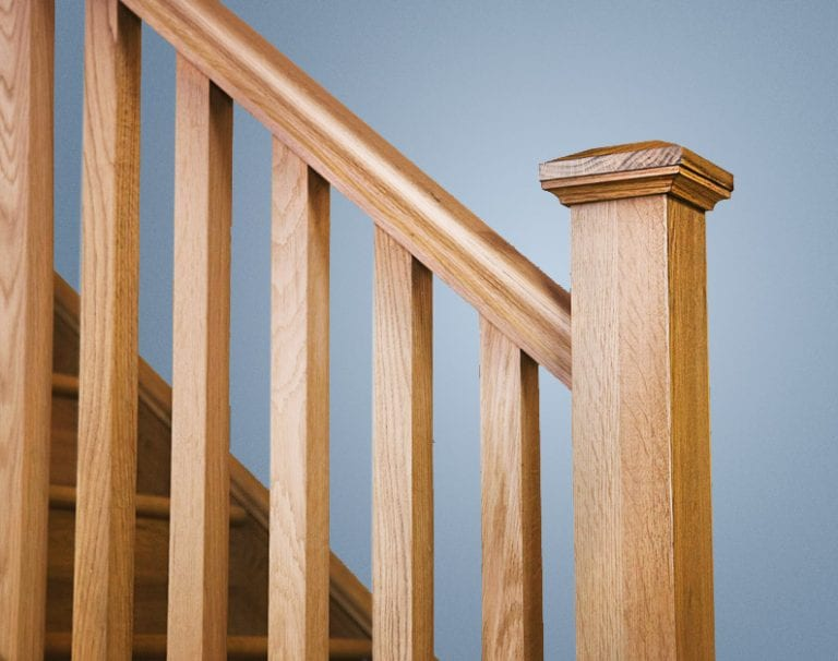 Square staircase collection Closeup George Quinn