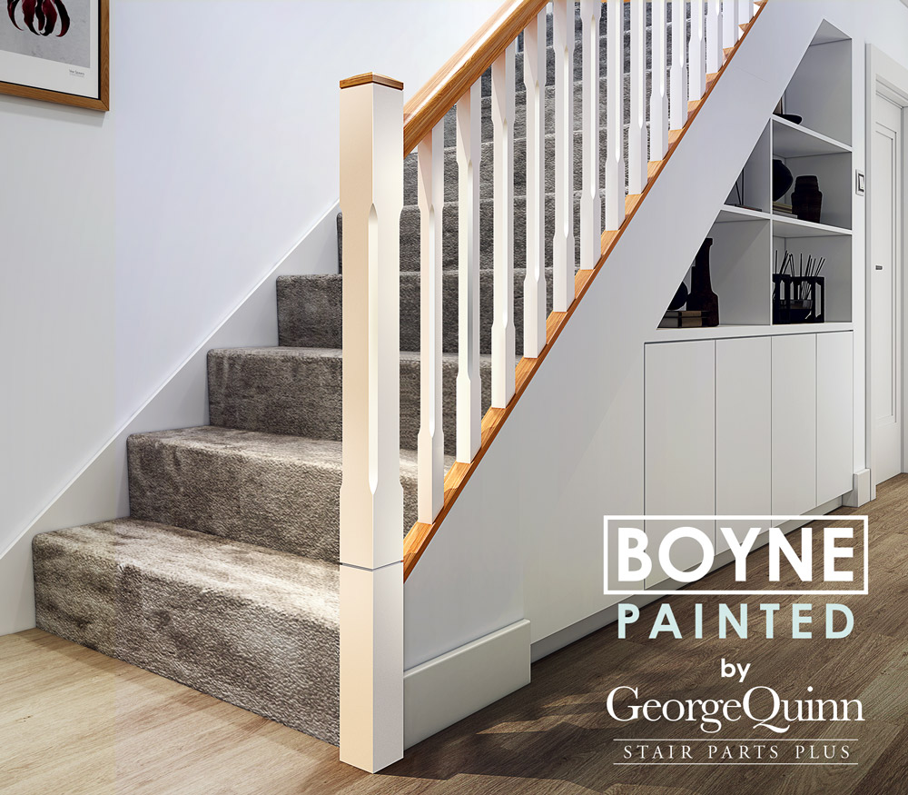 Boyne Chamfered Full Newel Post George Quinn Stair Parts