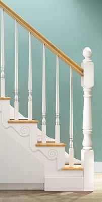 Traditional Staircase Parts - Boston Pin Top Spindles - George Quinn Stair Parts Plus