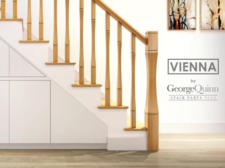Curved Stair Parts Side - Vienna - George Quinn Stair Parts Plus