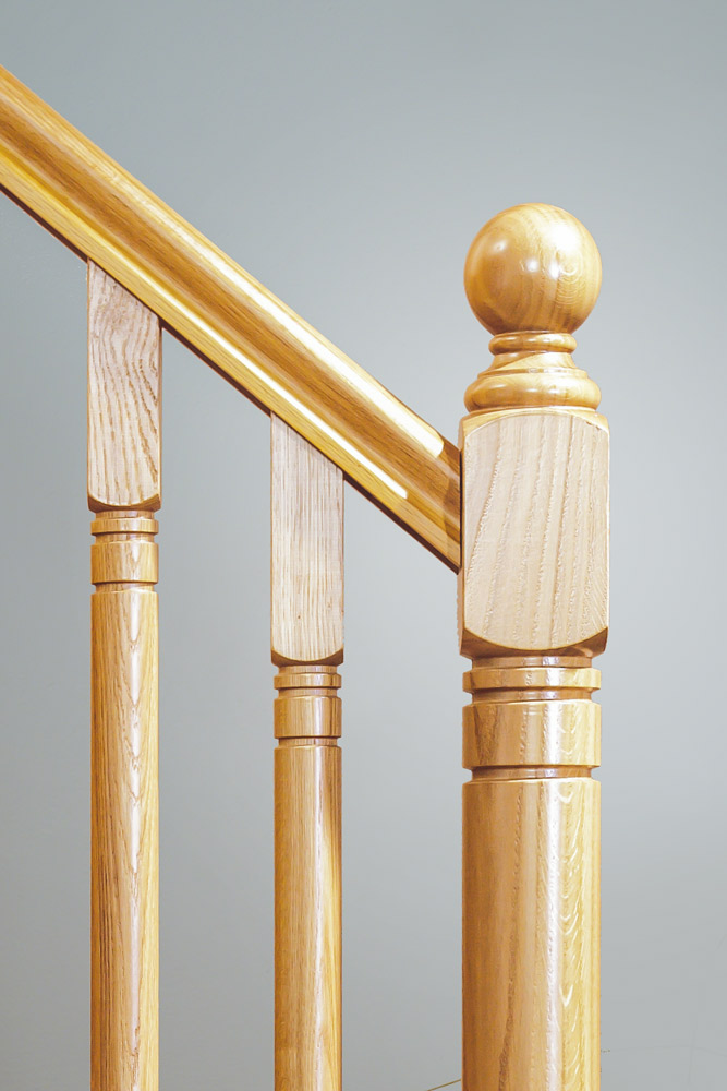 Modern Stair Parts - Erne new oak - George Quinn Stair Parts Plus