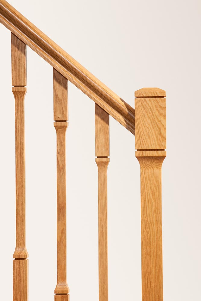 Minimal Stair Parts - Dublin Newel Spindles Closeup - George Quinn Stair Parts Plus