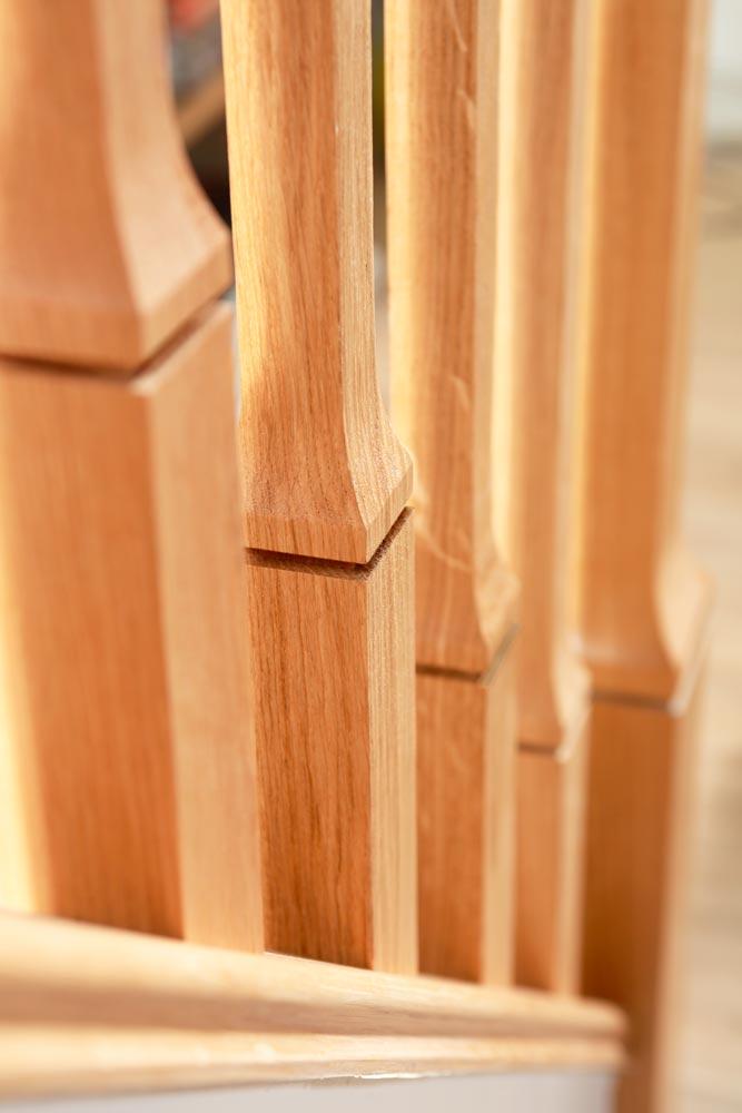 Minimal Stair Parts - Dublin Spindles Closeup - George Quinn Stair Parts Plus