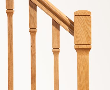 Minimal Stair Parts - Dublin Newel Spindles Closeup - George Quinn Stair Parts Plus