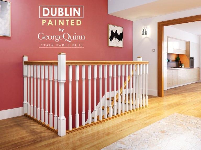 Minimal Painted Stair Parts - Dublin -