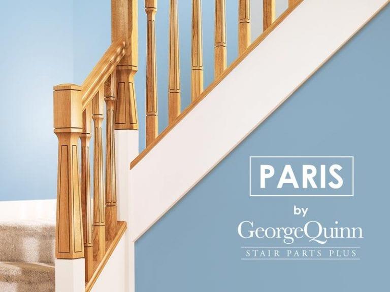 Modern Classic Stair Parts - Paris Newel Spindles Closeup - George Quinn Stair Parts Plus