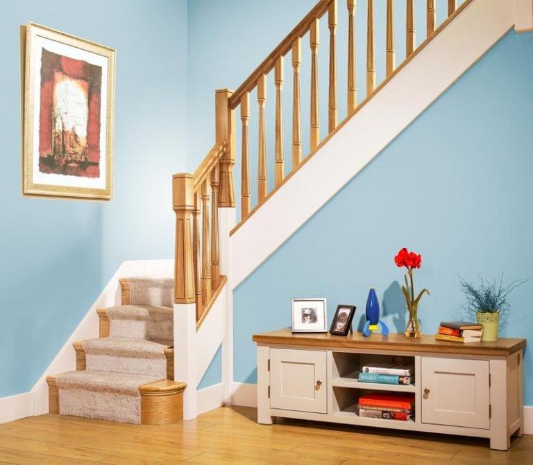 Modern Classic Stair Parts - Paris Newel Spindles Room Scene- George Quinn Stair Parts Plus