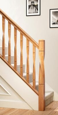 Modern Stair Parts -Milano Twist- George Quinn Stair Parts Plus
