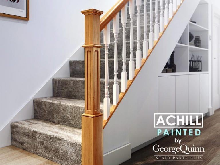 Painted Traditional Stair Parts - Achill Staircase