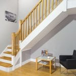 Square Stair Parts Staircase - Oak and paint - George Quinn Stair Parts Plus
