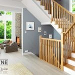 Chamfered Spindles and Newels Oak - Boyne - Modern Stair Parts -George Quinn Stair Parts Plus