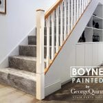 Chamfered Painted Spindles and Newels -Oak handrail - Boyne - Modern Stair Parts -George Quinn Stair Parts Plus