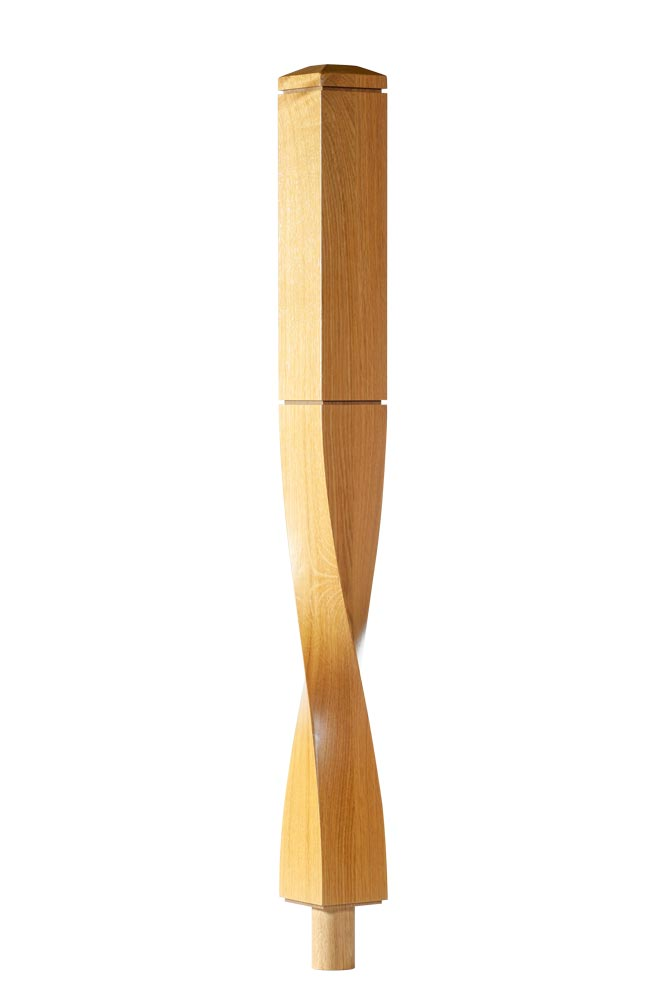 twist-Newel-Post-Milano-350-Square-George-Quinn-Stair-Parts-Plus