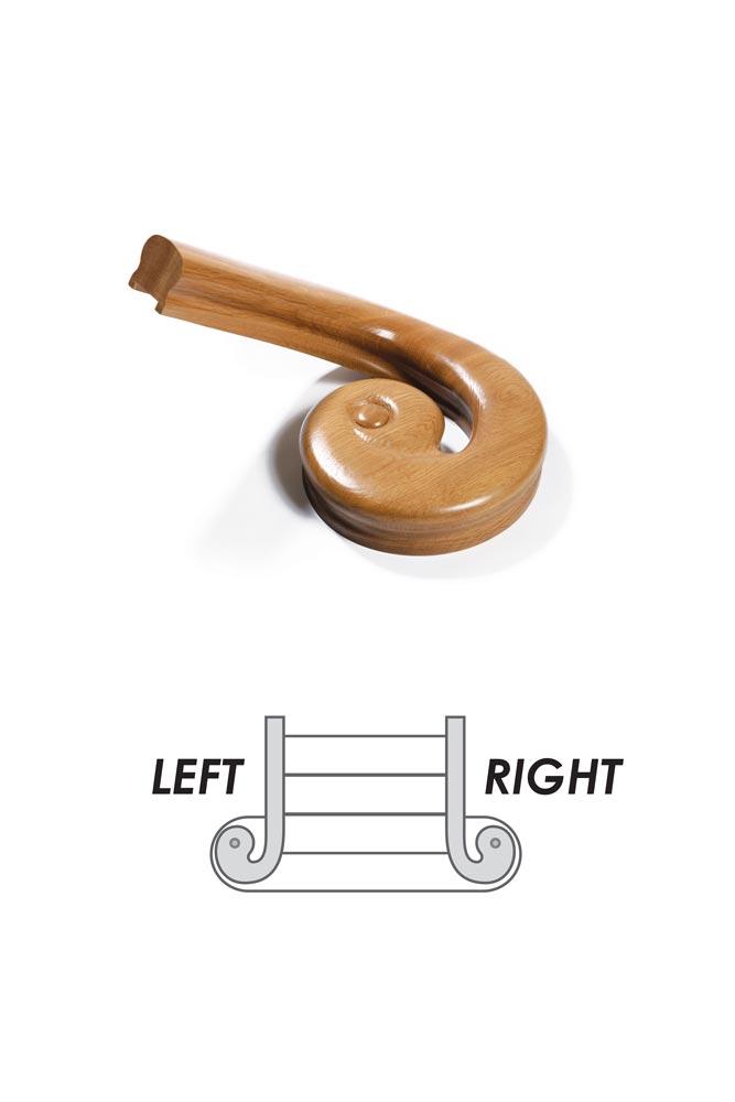 Scroll and Wreath Handrail - George Quinn Stair Parts Plus