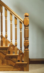Adare stair parts collection: 118 mm newel posts and 56 mm spindles
