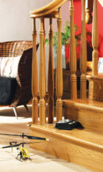 Bunratty stair parts collection - Ex 56 mm Reeded stair spindles